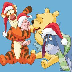 Tigger, Piglet, Pooh and Eeyore