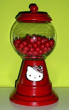 Hello Kitty Gumball Machine candy dish