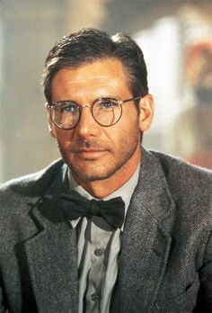 harrison ford with a bow tie!