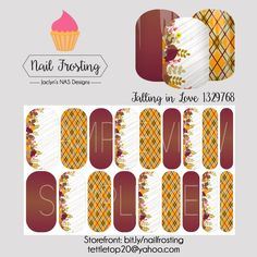 Fall Jamberry nail wraps from Nail Frosting by Jaclyn's NAS Designs. #fall #autumn #leaves #jamberry