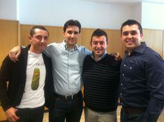 Junto a Cesar Mariel (Iristrace), Ricard Camarena (coach Spain Team Bocuse D'or 2012) y Jaime Agulló (Iristrace)