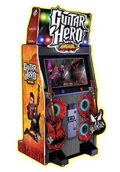 Arcade Games - Guitar Hero Arcade Game - The Pinball Company Arcade Games For Sale, Arcade Game Room, Arcade Game Machines, Arcade Machine, Guitar Hero, Buy Guitar, Game Sales, Table Games, Pinball