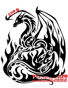 Tribal dragon tattoo I would love to have..  Gotta start saving