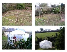 easy to build greenhouse, but wouldn't it be fun to make it when you're out camping?