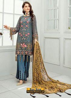 0693ebb7-04b5-4885-a6a4-016729f6a29c Handmade Wedding, Chiffon, Luxury Wedding, Latest Pakistani Fashion, Kimono Top, Trousers, Side Panels, Formal, Yards