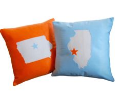 State of Affairs CUSTOM Pillow Perfect Gift by diffractionfiber, $30.00    But I'd get the state of Nebraska of course.