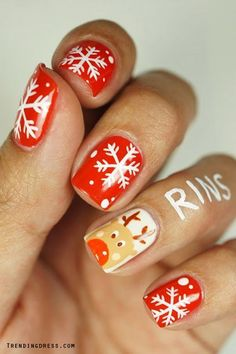 The Christmas Edit: Christmas Nail Designs #Christmas #NailArt #ChristmasNails