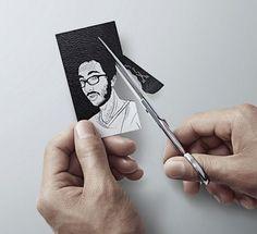 Cartão de Visita criativo.