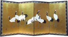 Japanese Screens-Custom-Made Screens Room Divider Screen, Room Dividers, Japanese Screen, Custom Made Furniture, Oriental, Leaf Art, Japan Art, Poster Wall, Chinoiserie