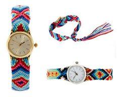 DIY Idea: Friendship Bracelet + Watch