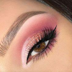 Makeup Eye Looks, Eye Makeup Art, Pink Makeup, Pretty Makeup, Eyeshadow Makeup, Makeup Drawing, Makeup Eyes, Makeup Kit, Eyeshadows
