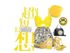 """""""yellow.. smile. ."""" by selmaadis ❤ liked on Polyvore featuring Alice + Olivia, Kate Spade, Chanel and Big Bud Press"""