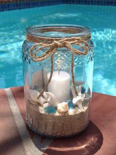 pearls, sea glass in jars - Google Search