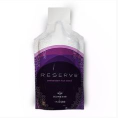 RESERVE™ makes the feeling of youthful living last.  With a botanical blend of antioxidants that super-charge your internal systems, RESERVE™ is a naturally sweet supplement bursting with exotic fruit juices.