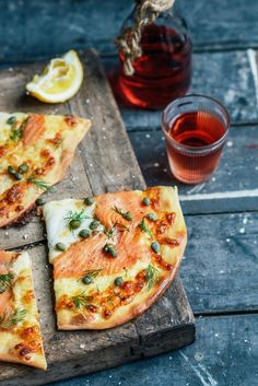From The Kitchen: Asparagus & Mozzarella Pizzas, Smoked Salmon Pizzas with dill & capers