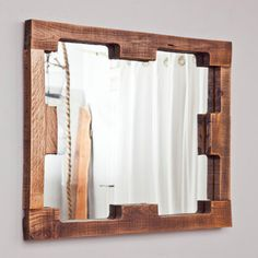 Mirror from Pallet Stringers