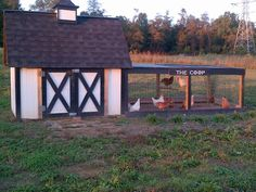 Upcycle shipping crates as a bargain chicken coop/