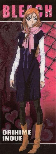 Orihime Inoue (井上 織姫, Inoue Orihime) is a Human living in Karakura Town. She is a student at Karakura High School, where she is in the same class as Ichigo Kurosaki and her best friend, Tatsuki Arisawa. Bleach Fanart, Bleach Anime, Ichigo Y Orihime, Kubo Tite, Departed Soul, Japanese Anime Series, Shinigami, Light Novel, Manga Comics