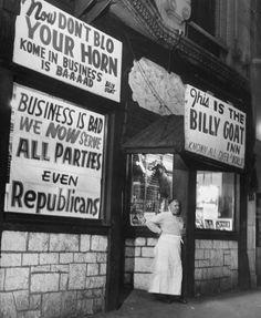 The original Billy Goat Innon W Madison, 1950, Chicago.