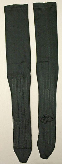 19th Century Stockings  Culture: French  Medium: silk