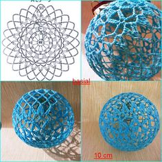 Ludmila Vodičková's media content and analytics. Christmas Crochet Patterns, Crochet Christmas Ornaments, Crochet Snowflakes, Holiday Crochet, Beaded Ornaments, Christmas Baubles, Crochet Gifts, Crochet Ball, Crochet Chart