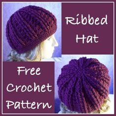 Crochet Ribbed Hat. Free pattern via designer's website.