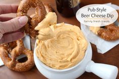 Pub Style Beer Cheese Dip: Great w pretzels, pita chips, tortilla chips & more