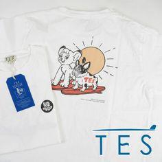 TES エンドレスサマー TES x ジャングル大帝 手塚治虫 コラボTシャツ FH-1574604 【半袖Tシャツ】 【メール便可】 -JOE-