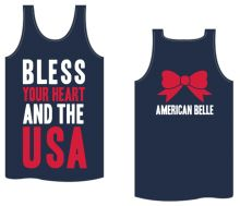 Bless Your Heart and the USA Tank.  And it's not just for the Fourth of July!(;