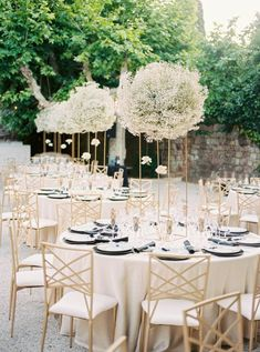 A black and gold wedding along the French Riviera never looked so good! Carla and Walker said I Do in a chateau wedding venue, replete with babys breath floral arrangements, Art Deco paper goods and sparkly bridal fashion, and we cannot get enough. See all the magic on Ruffled wedding blog now! #glamwedding #modernbride #bridalupdo #weddingceremonybackdrop Wedding Ceremony Backdrop, Wedding Reception Decorations, Modern Wedding Centerpieces, Reception Ideas, Wedding Pl, Gold Wedding, French Wedding, Luxury Wedding, Wedding Styles