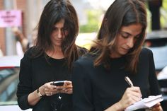 emmanuelle  alt + assistant working in black
