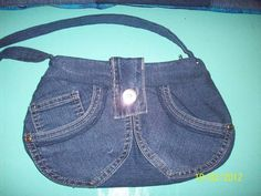 Recycled denim buttercup bag - PURSES, BAGS, WALLETS