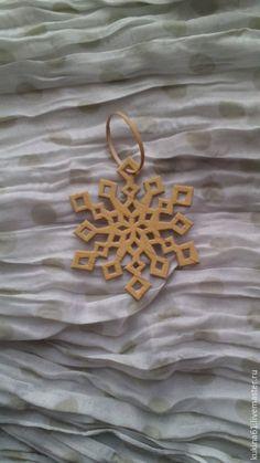 Купить снежинка №8 - бежевый, елочные игрушки, елочные украшения, елочная игрушка, елочное украшение