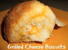 Grilled Cheese Biscuits #recipes #easy #frugal