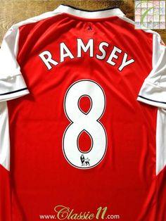 da7e4105e 2016 17 Arsenal Home Premier League Football Shirt Ramsey  8 (M)