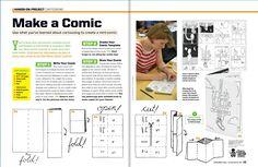 Hands-on Art Project: Make a Comic/Cartooning #ScholasticArt