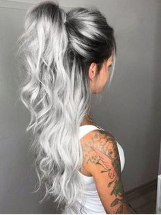 icy blonde hair with dark roots short hairstyles \ icy blonde hair dark roots short hairstyles . icy blonde hair with dark roots short hairstyles Hot Hair Colors, Ombre Hair Color, Cool Hair Color, Balayage Color, Blonde Hair With Color, Silver Blonde Hair, Sombre, Teen Hair Colors, Ombre Rose