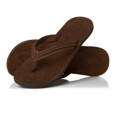 Reef Swing 2 Leather Womens Flip Flops in Tabacco