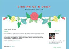 Blogger Candy - Free Blogger + Blogspot templates: Vine Me Up & Down Blogger template