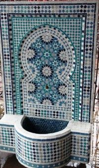 Marokkaanse Mozaiek fonteinen. Mozaiek Marokko het adres voor uw Mozaiek fontein - Zoutewelle-Import