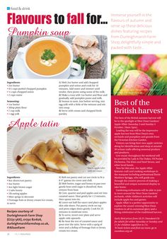 Flavours to fall for ~ Embracing autumn's flavours with recipes from Durleighmarsh Farm Shop. Drink Recipes, Soup Recipes, Pumpkin Dishes, Farm Shop, Served Up, Autumn, Fall, Hampshire, Fruit