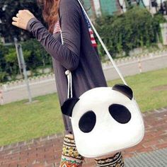 Panda Kawaii, Cute Panda, Cat Amigurumi, Anime Crafts, Panda Bear, Craft Gifts, Crafts To Make, Leather Handbags, Purses And Bags