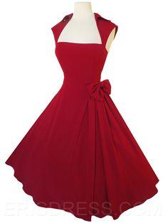 une ligne de style rockabilly ericdress manches vestimentaire décontracté Robe simple