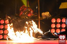 Usher lights his shoes on fire at the 2014 iHeartRadio Music Festival! #iHeartRadio