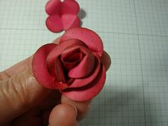 penguinstamper: Fancy Flower Punch Rose Tutorial!