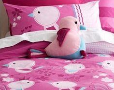 Springtime Birds Novelty Cushion by Cubby House Kids
