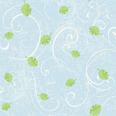 Peek-A-Boo Leaf Scroll Ultra Removable Wallpaper, Light Blue