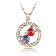 to Hell Neon Acrylic Necklace Swarovski Crystal Necklace, Swarovski Jewelry, Crystal Pendant, Swarovski Crystals, Crystal Diamond, Red Necklace, Fashion Necklace, Pendant Necklace, Purple Gold