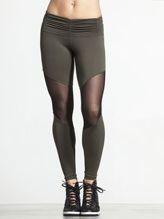 Move to the beat of your own drum with these killer leggings from Chill by Will. The mesh panels are designed to excel during any activity, whether you're on the floor during Barre class or spinning your heart out. The gathered waistband is a great style touch while remaining comfortable throughout your whole workout!