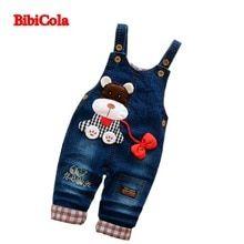4d67c81bb86 BibiCola Toddler baby Overalls Pants Trousers Infant Denim Jumpsuit Bebe  Girl Boys Jeans Pants Toddler Trousers Spring Auatumn(China)
